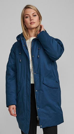 Numph Numorgan long jacket with hood