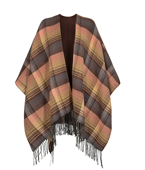 Numph Nubroadway poncho in chocolate chip