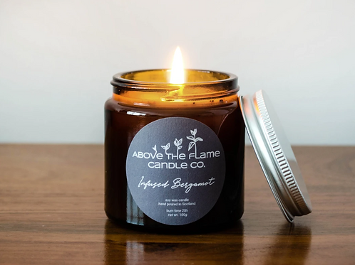 Above the flame candle - Bergamot