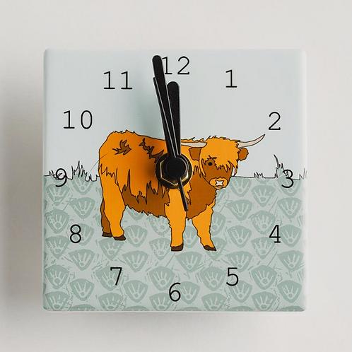 Dibujo design cow mini clock