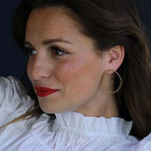 Olivia Taylor regular gold Ondulee hoop earrings