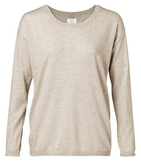 Yaya beige jumper with buttons down the back