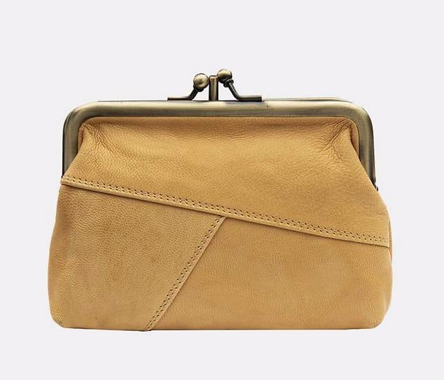 Primehide Crumble purse - mustard