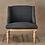 Thumbnail: Nkuku Elbu Charcoal linen chair - ex display