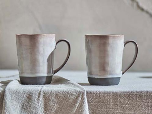 Nkuku Edo Tall Mug in Slate