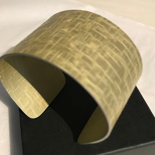 Hand painted gold cuff