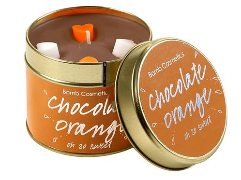 Bomb Cosmetics Chocolate Orange tinned candle