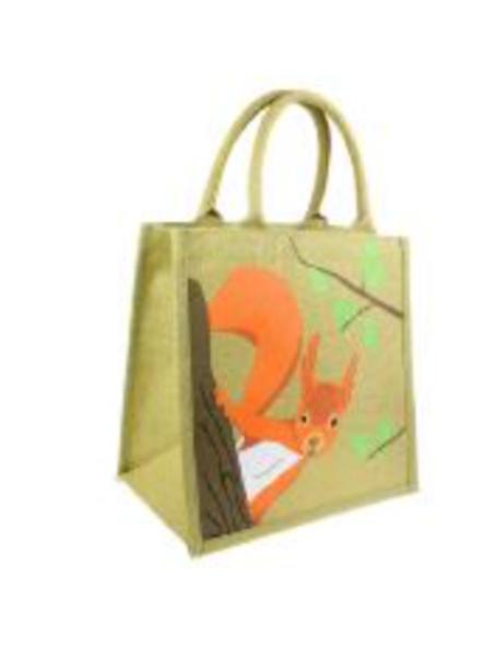 Jute squirrel shopper bag