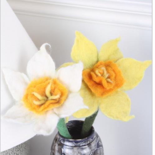 Pachamama Felt Daffodil flower