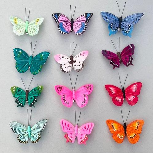Clip on butterflies - various colours