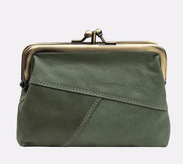 Primehide Crumble purse - green