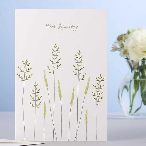 Eloise Hall card Sympathy - grass