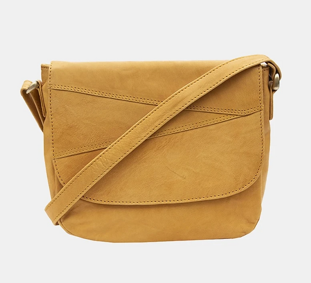 Primehide Crumble leather bag - Mustard