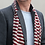 Thumbnail: Grey and red stripe men's soft scarf