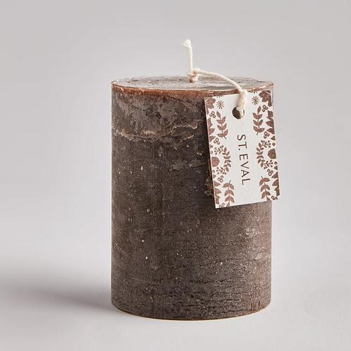 St Eval Oak pillar candle