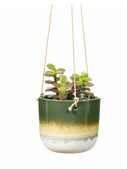 Sass and Belle Mojave green hanging planter