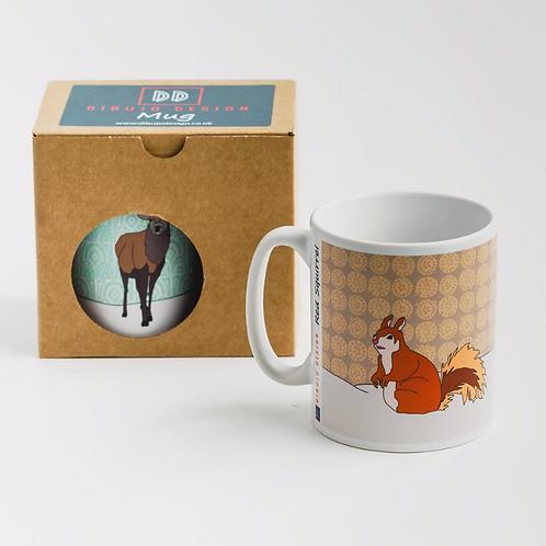 Dibujo design red squirrel mug