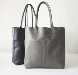 Aura Que large leather tote shopper