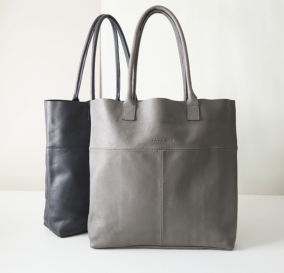 Aura Que Mira large leather tote shopper