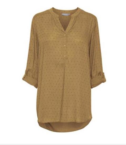 Fransa Frbajoy tobacco blouse