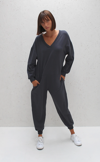 Chalk Julie all in one charcoal jumpsuit