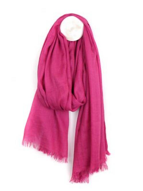 Light weight viscose pink scarf
