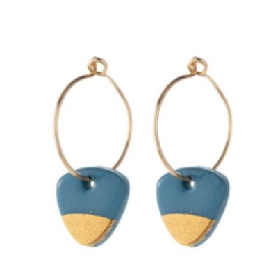 One & Eight steel grey arrow earrings