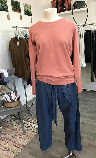 Numph Nikola plain sweatshirt in ash rose