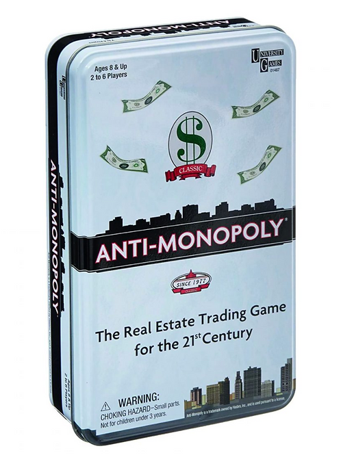 Anti Monopoly game - travel size