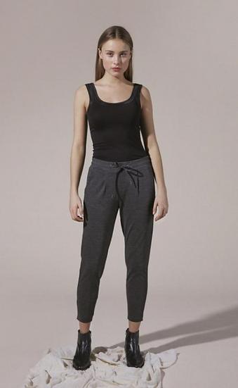 Ichi Kate trousers in dark grey melange