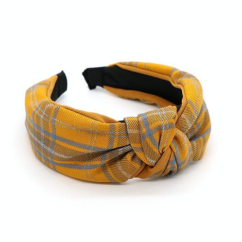 Mustard tartan hairband