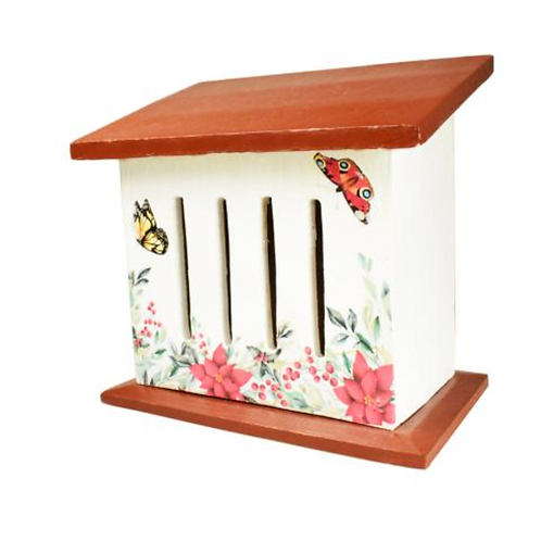 Butterfly house - wooden with painted detail
