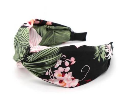 Black botanical hairband