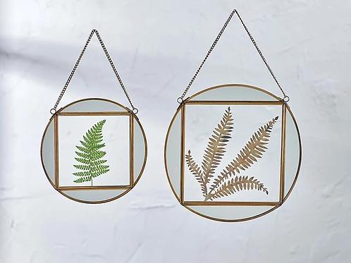 Nkuku Teema brass mirror frame