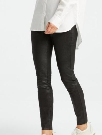 Yaya faux black leather leggings
