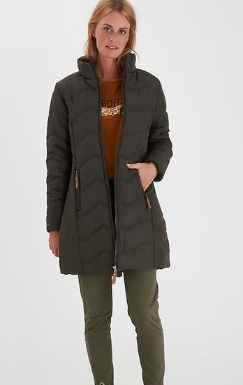 Fransa Frlaprint 2 deep olive coat outerwear