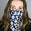 Thumbnail: Navy floral snood and face covering