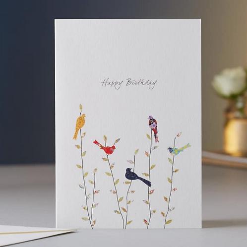 Eloise Hall Happy Birthday Spring Birds card