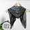 Thumbnail: Navy and mustard geometric print square silk scarf