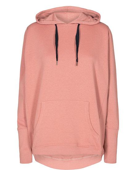 Numph Nikola plain hoodie in ash rose