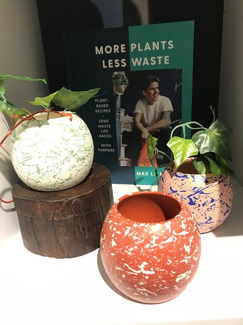 Ceramic splatter planter pots