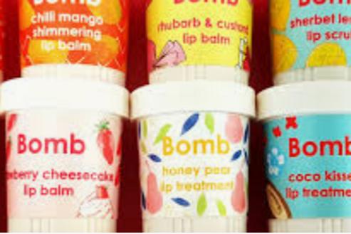 Bomb Cosmetics lip products - balms, scrubs and treatment