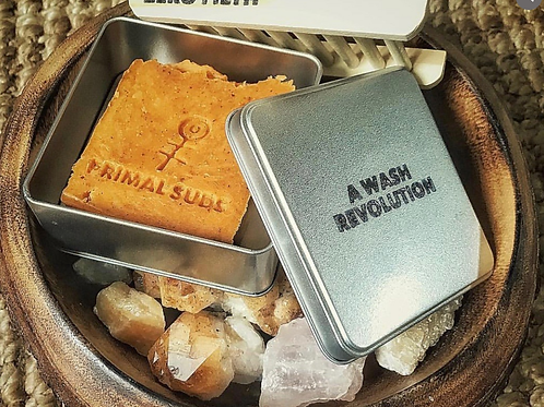 Primal Suds tin for soap