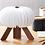 Thumbnail: Gingko R Space lamp in walnut