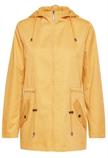 Fransa ochre light jacket with hood