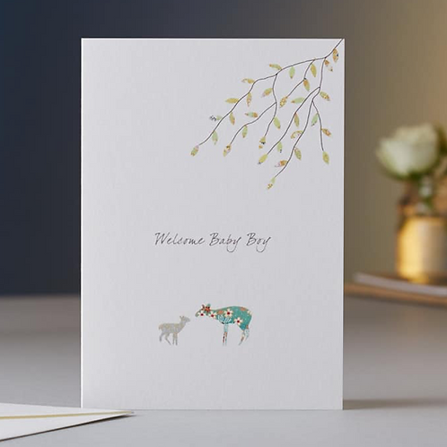 Eloise Hall new baby boy deer card