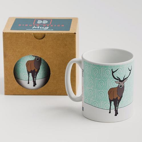 Dibujo design stag mug