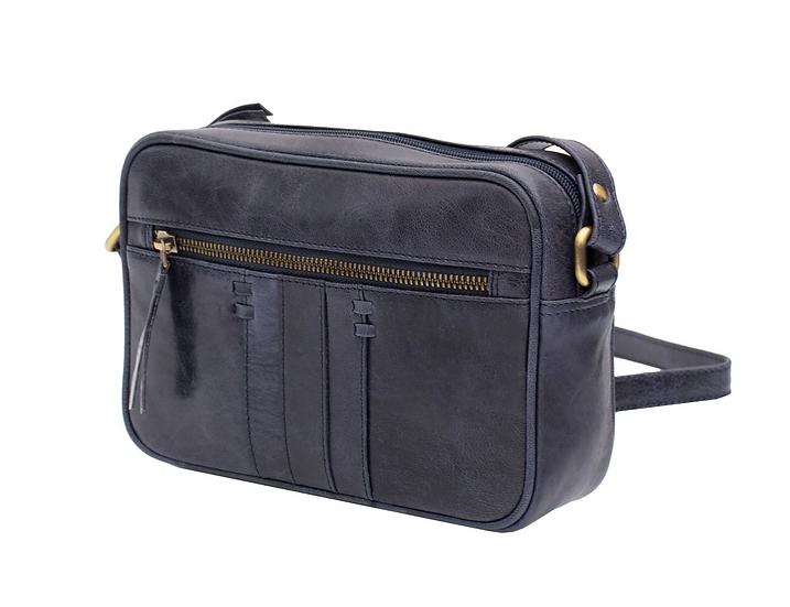 Primehide Arizona leather shoulder bag - Navy