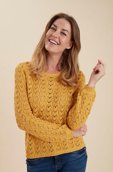 Fransa Knitted ochre jumper