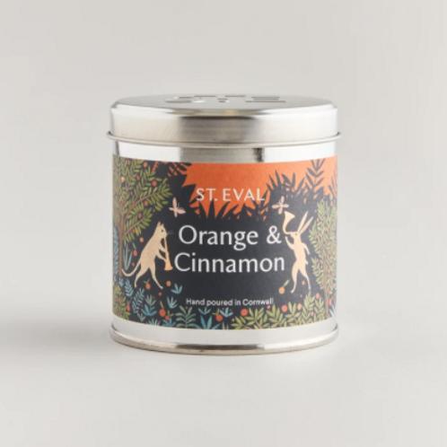 St Eval orange & cinnamon tinned candle